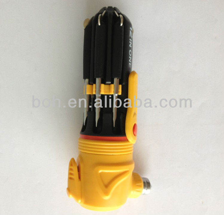 12in1 portable multi screwdriver set with torch