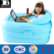 high strenght PVC air sauna bathtub inflatable adults bathtub indoor 1 person plastic inflatable washtub portable inflatable was