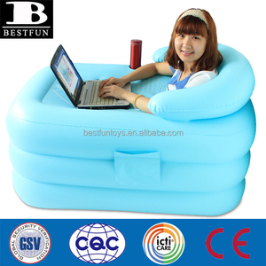 high strength PVC air sauna bathtub inflatable adults bathtub indoor 1 person plastic inflatable washtub portable inflatable was