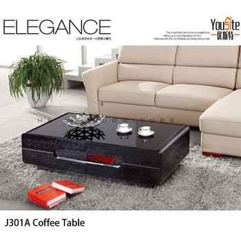India Wood Carve Coffee Table Furniture In Black Oak - Buy Coffee