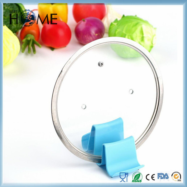 Best Quality Price Multifunction Wavy Pot Lid Spoon Plastic Kitchen Rack