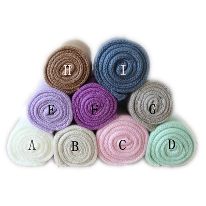 Newborn Photo stretch Knit wrap props Baby Jersey wrap photo props Newborn soft swaddle blanket sack Layer