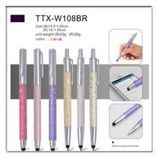 2019 fashionable crystal stylus pen mini touch screen pen with dust plug