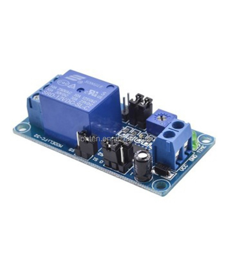 Normally Open Trigger Delay Switch Relay Module 5v  12v