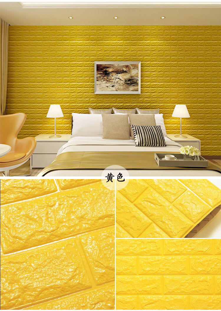 3d Adhesive Non Toxic White Color 3d Brick Pe Eva Foam Wallpaper 3d ...