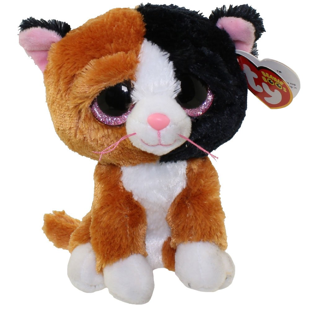 9f3c88fba65 Get Quotations · New TY Beanie Boos Cute Tauri the Calico Cat (Glitter Eyes)  Plush Toys 6