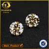 loose round brilliant cut 6.5mm champagne moissanite stones