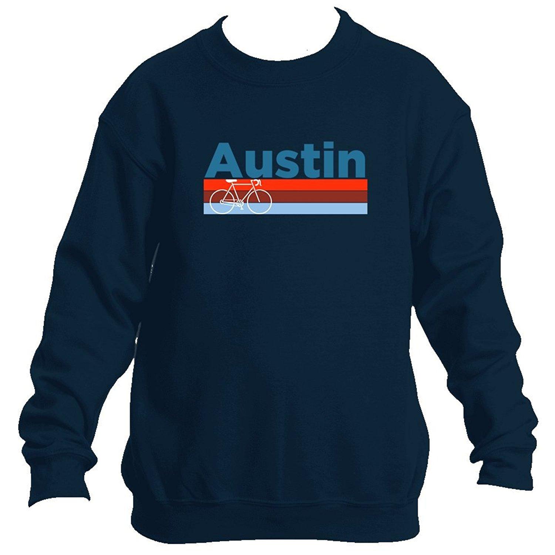 Austin Retro Bike   Mountain Bike - Texas Youth Fleece Crew Sweatshirt -  Unisex cfed1eed8