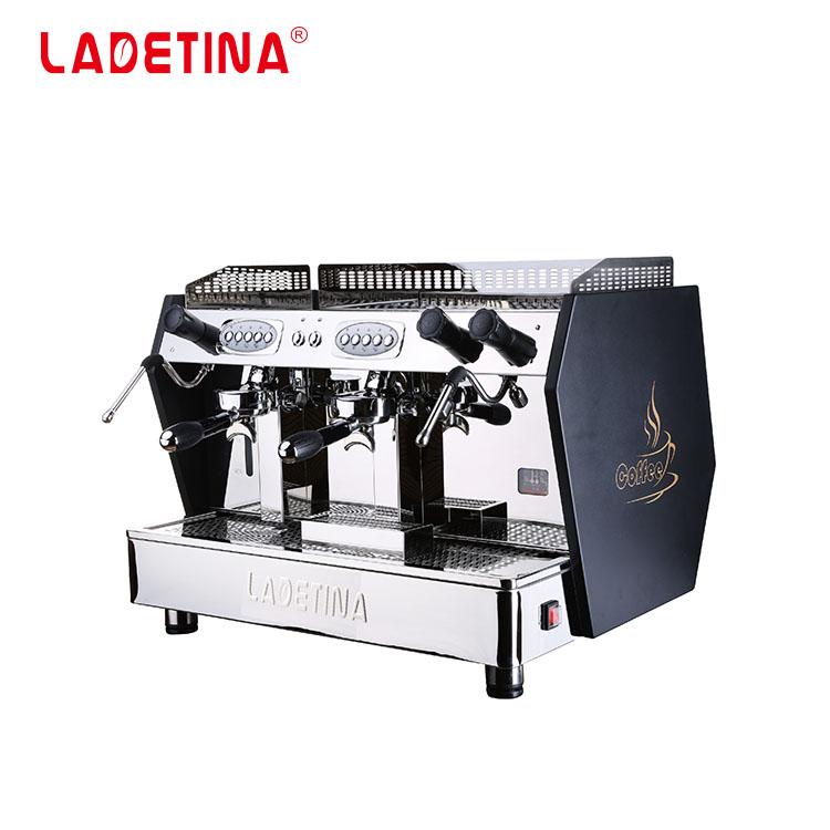 Penjualan Terlaris Mesin Kopi Profesional Semi-otomatis Boiler Tembaga 12L, Mesin Espresso Komersial, Pembuat Kopi