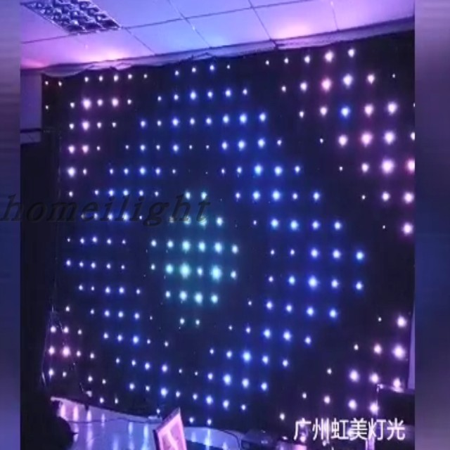 P10 2*3M RGB Vision Curtain for Disco Party Background