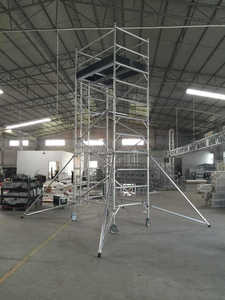 Portable used mobile scaffold aluminum scaffold tower system