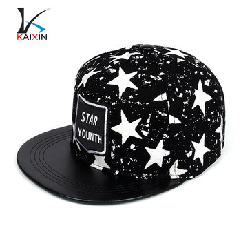 custom woven label star printing hip hop snapback hats for small heads 9d3f4951f7a