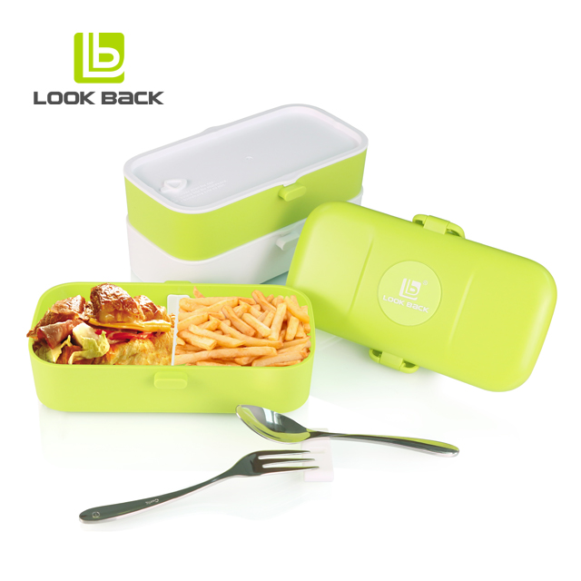 High quality long duration time plastic custom printed korea stackable bento box