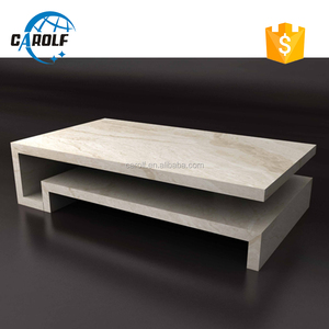 High quality modern low coffee table, marble slabs