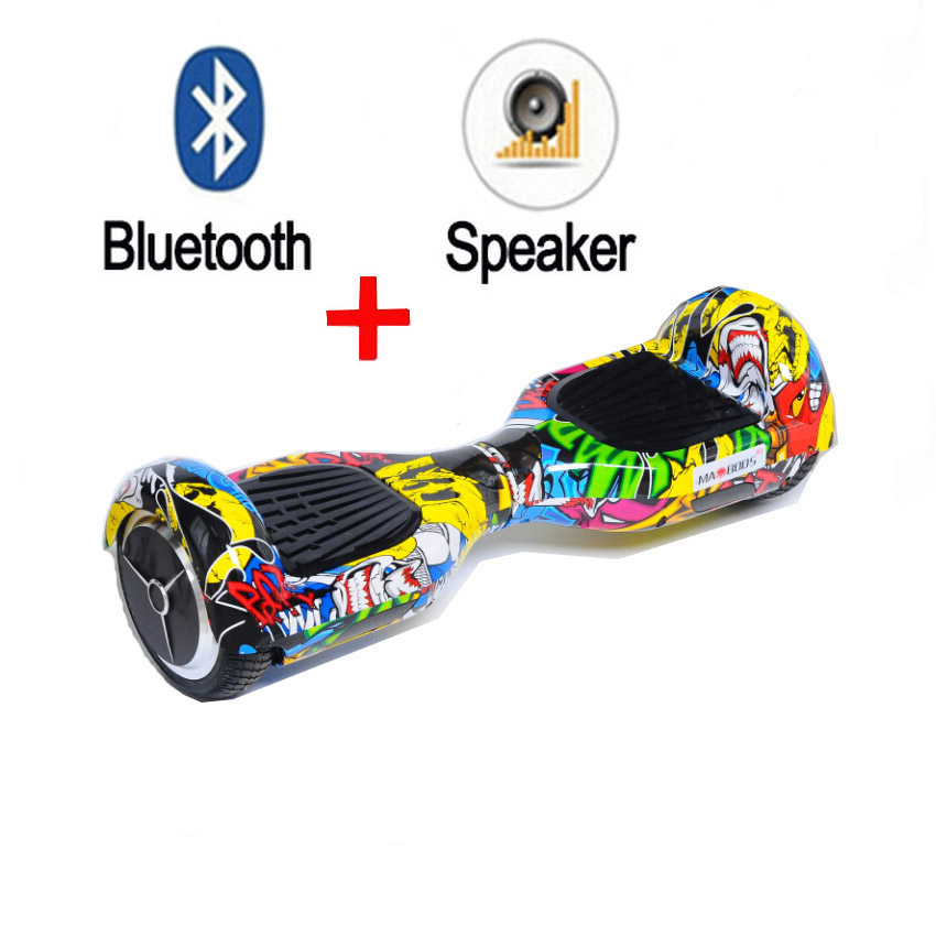 Hot Sale 2 Wheel Self Balance Electric Scooter Bluetooth Speaker Hoverboard