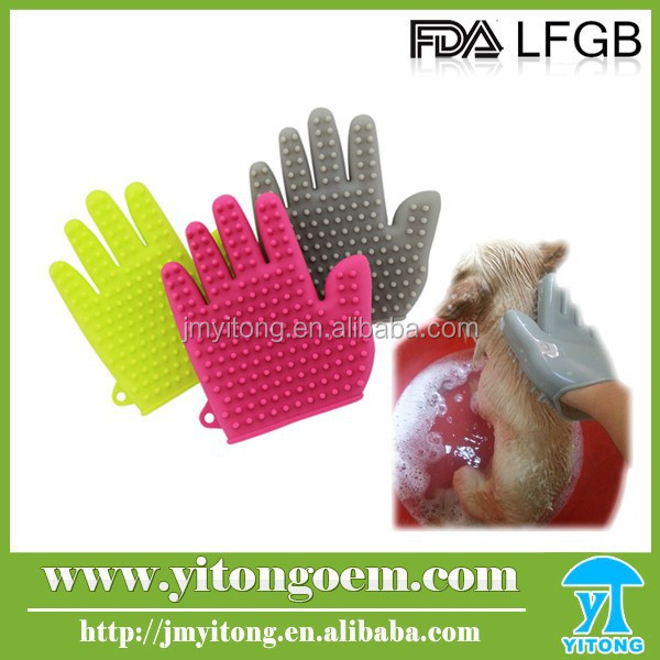 Pet Product Grooming Comb Body Silicone Cleaning Glove
