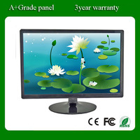 Wide screen 22 inch lCD LED computer monitors with VGA DVI and wall mount