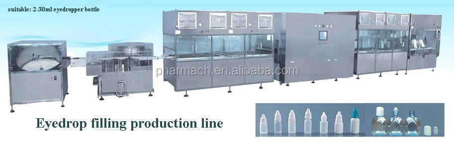Good quality and GMP standard Fully automatic Eyedrop filling machine for 2-30ml eyedrop bottles