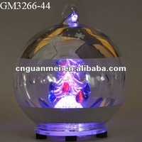 Hand Blown Glass Christmas Globe With Led Changing Light