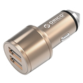 ORICO UCI-2U 15.5W 2 Port USB Car Charger, Safety Hammer as Well