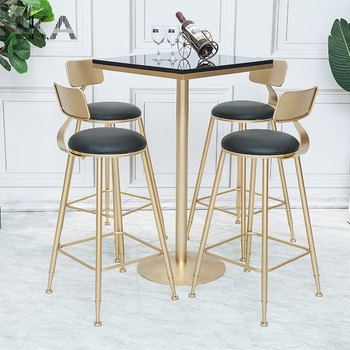 Modern High Chair With Cushion /table And Chair For Snack Bar Stool Metal  Folding Chair   Buy High Quality Bar Chair,High Chair,Bar Stool Chair ...