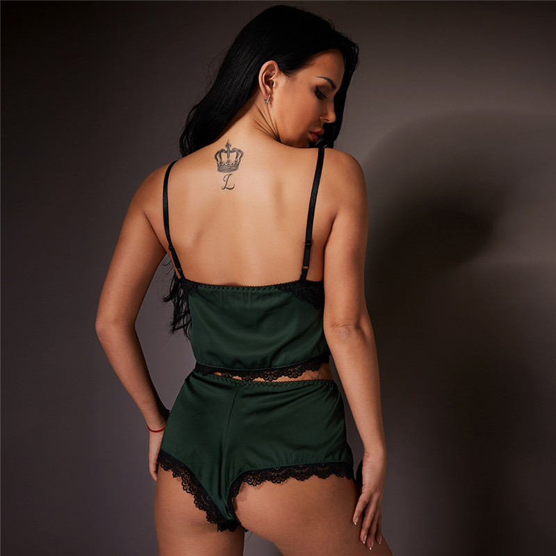Hot Selling  Lady  bodysuits underwear transparent women  lace sexy lingerie set