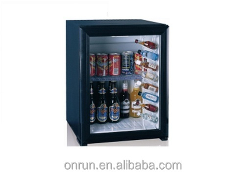 Silent Hotel Minibar with Glass Door