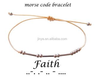 Bohemian Faith Morse Code Bracelet
