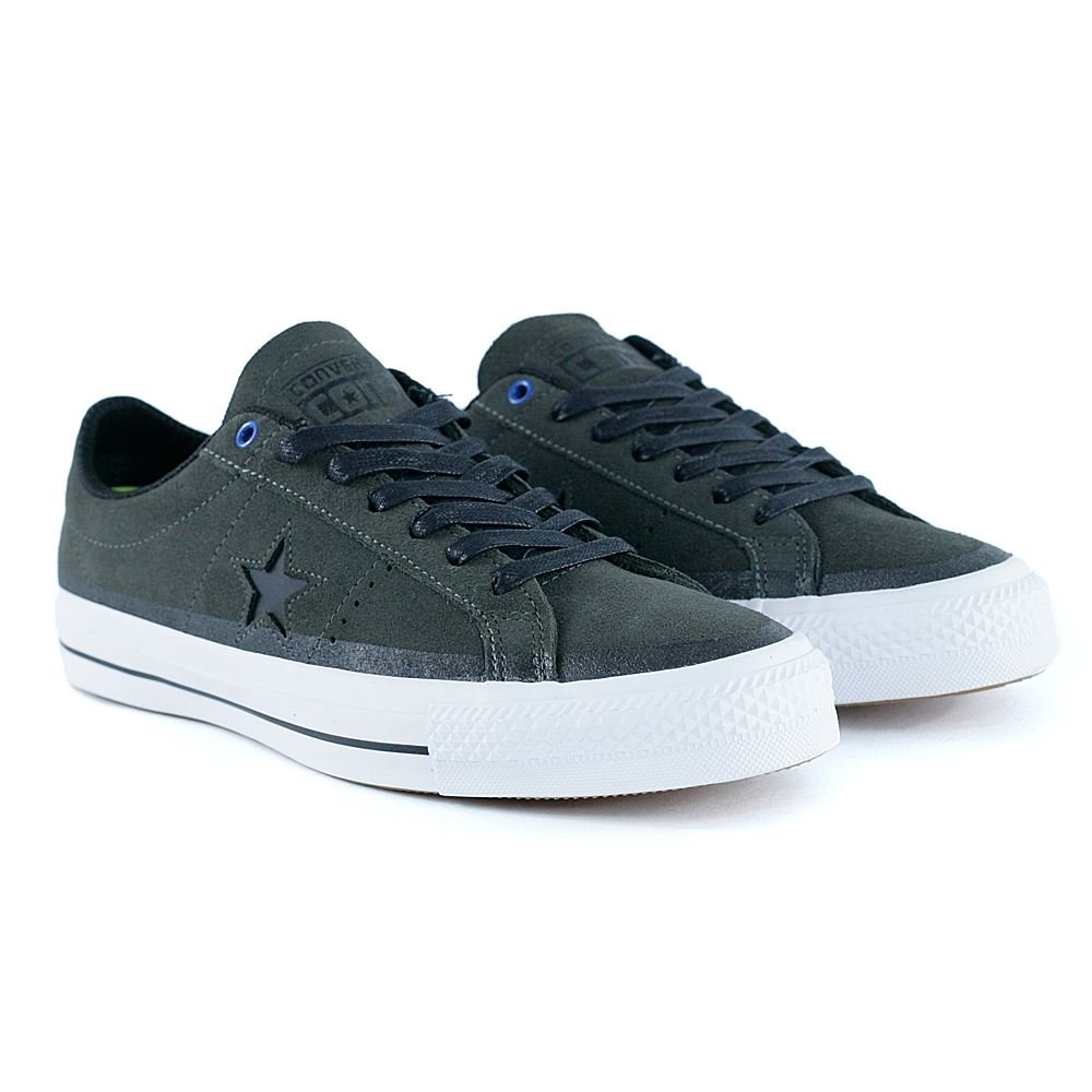 d218035b9eed14 Get Quotations · Converse One Star Pro Suede 90 s Color Ox Cast  Iron Black White Lace up