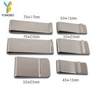 Business Metal Stainless Steel Blank Money Clip With Customized Logo