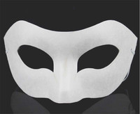 White Unpainted Face Plain/Blank Version Paper Pulp Mask DIY Masquerade Masque
