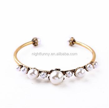 0594289b9 Pearl Cuff Bangles Handmade Pearl Bangle Rose Gold Plated Metal Cuff  bracelet jewelry