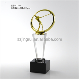 perfect design golf glass trophy award golf trophy with cheap price