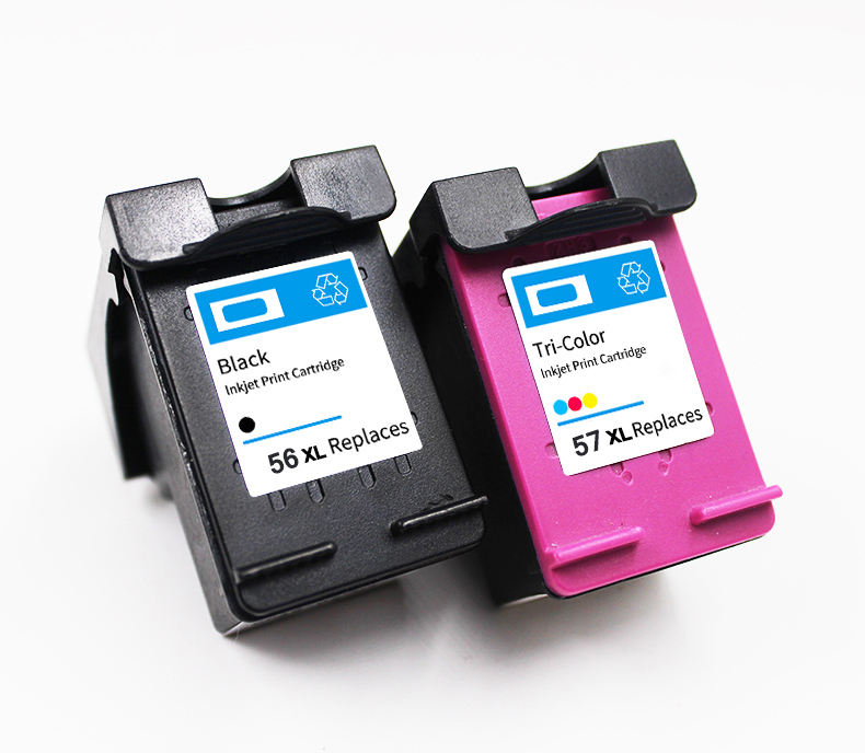 Remanufactured ink cartridge for hp56/57 for hp Deskjet 450ci (C8111A)/ 5652 (C9007A)/ 450cbi (C8112A)/ Officejet 5608 (Q7318A