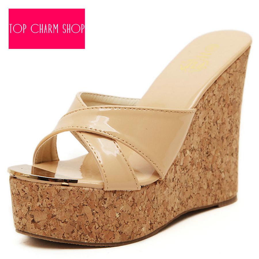 4cadacf1ef0 Get Quotations · Hot Sale 2015 Slippers Women High Heels Sandals Women Flip  Flops Summer Sandals Platform Wedges Slippers