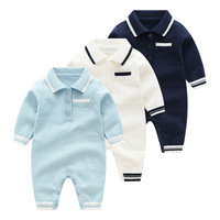 High Quality New Born Babyrompers Turndown Collar 100% Cotton Soft Baby Jumpsuit Toddler Clothing Ropa De Bebes