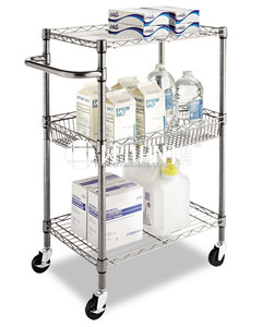 NSF & SGS Approval Supreme Metal Kitchen Trolley with Wooden Board