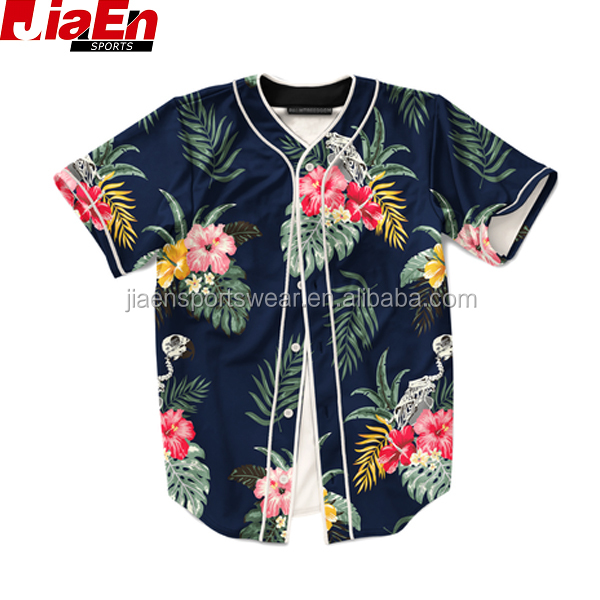 Baseball jersey customizer online ontwerp ur eigen bloemen baseball jersey fashion blank honkbal jerseys