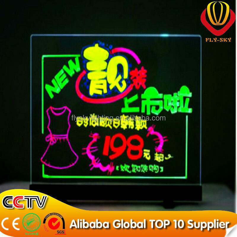 2016 alibaba express led message board desktop LED writing board for advertising