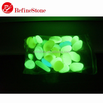 fluorescent stone for paving of resin plastic pebble