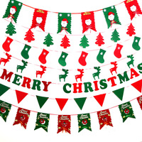Wholesale Christmas Bunting Banner Flags Garland Hanging Bunting Flags for Xmas Party DIY Decoration