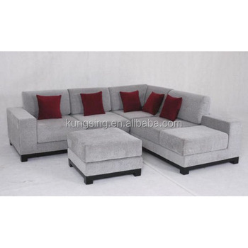 Big Sectional Corner Silver Sofa With Ottoman - Buy Sectional Sofa  Ottoman,Big Corner Sofa With Ottoman,Silver Sofa Set Product on Alibaba.com