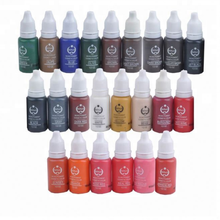 Simple Bottles 23 different Colors Tattoo Pigment 15ml/ Bottle Permanent Tattoo Ink Set