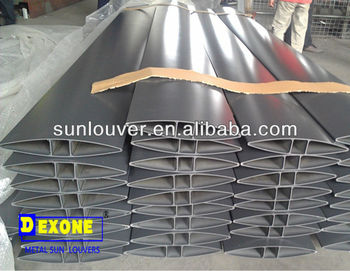 Aluminum Aerofoil Louver Profile For Facade Louver With Olive ...