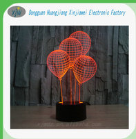 USB plug charge greative gift lamp,LED 3D touch illusion lamp,acrylic night light