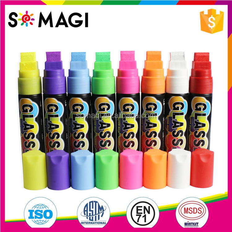 Chalk Ink Bold Wet Wipe Marker, 15 mm, Chalk White