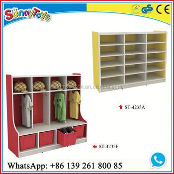 EU Standard Funny Kindergarten Children Locker Clothes Storage Cabinet