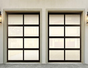 High Quality Aluminium Automatic Sectional Garage door with Frost glass