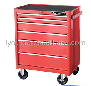 Strong metal 6 drawers tool trolley kd steel tool cabinets