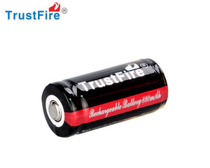 TrustFire high quality 16430 li Ion battery 880mAh Ego battery